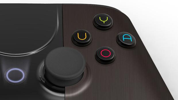 Detalhe dos botões principais do controle do Ouya (Foto: Divulgação)
