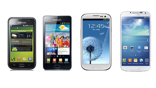 Evolução da linha Samsung Galaxy S (Foto: Divulgação)