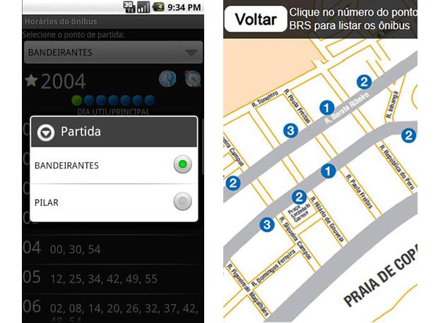 Bus Belo Horizonte e BRS -mob te ajudam a achar ônibus em BH e no Rio (Foto: Arte/Divulgação)