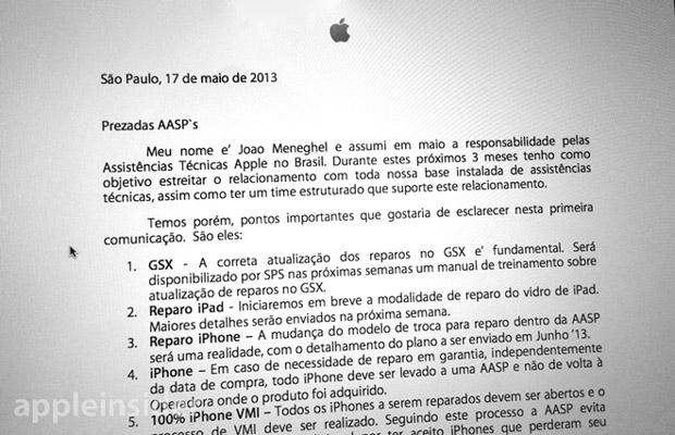 E-mail enviado às assistências da Apple confirmaria novas políticas de conserto da empresa (foto: Divulgação)