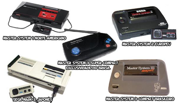 Algo que não faltou na longa vida do Master System foram diferentes modelos (Foto: wikipedia.org / Reprodução: Rafael Monteiro)