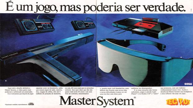 Propaganda do Master System em revista brasileira antiga (Foto: risoles.blogspot.com)