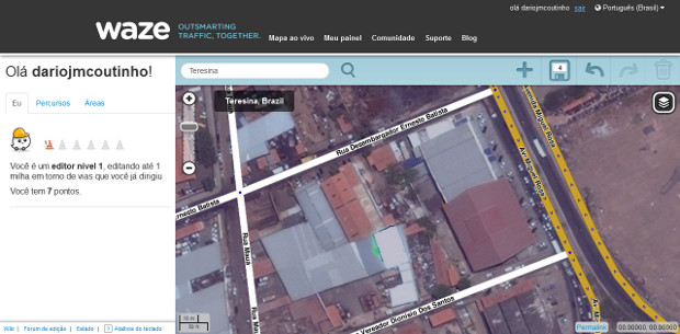 Para navegar pelo mapa basta utilizar o mouse (Foto: Reprodução / Dario Coutinho)