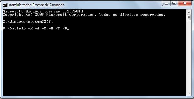 Tela do prompt de comando do Windows após o comando ser inserido (Foto: Reprodução/Rodrigo Gurgel)