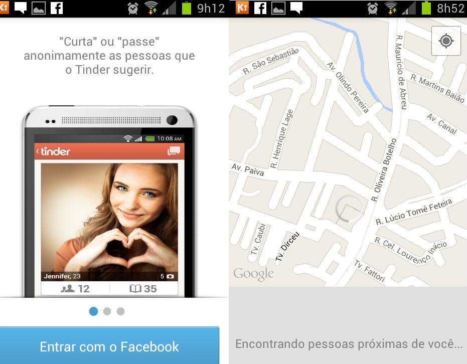 O acesso ao Tinder é feito por meio da conta do Facebook (Foto: Reprodução/Marcela Vaz)
