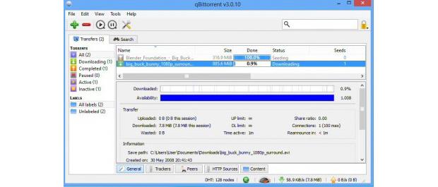 qBittorrent não mostra anúncios e tem versões para Windows, Linux e Mac (Foto: Reprodução)