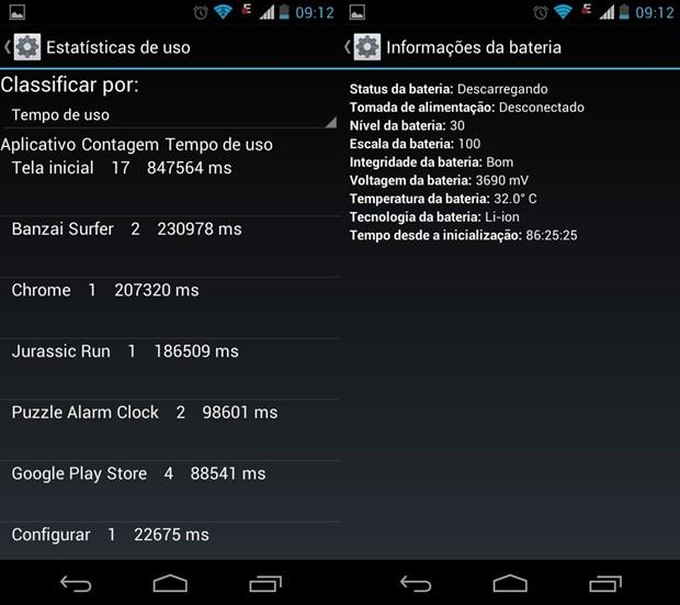 Códigos secretos para android possibilitam ver informações que não são exibidas normalmente  (Foto: Reprodução  / Dario Coutinho)