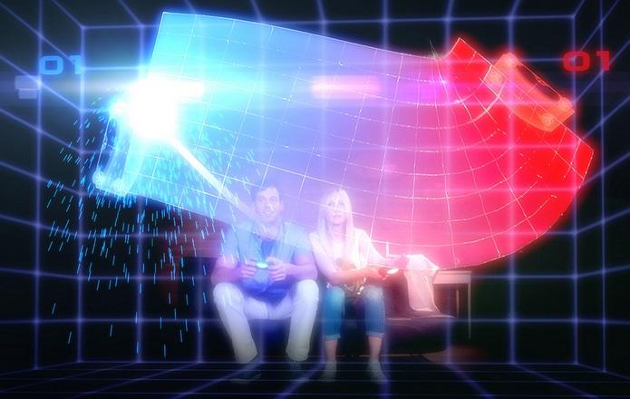 Pong futurista no PlayRoom (Foto: Divulgação/Sony Europe)