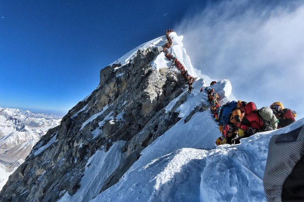 Mount Everest has gotten so crowded that climbers are
