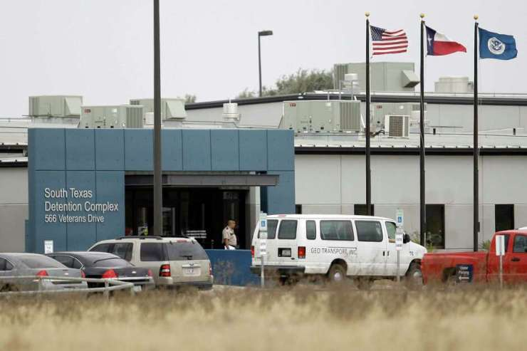 FILE - This Feb. 10, 2009 file photo shows the privately-run South Texas Detention Center in Pearsall, Texas. According to a new report by a prison reform advocacy group, U.S. Customs and Immigration Enforcement has to pay for 3,225 immigrant beds daily at five detention facilities in Texas _ the most of any state _  but the agency has not disclosed how many of those beds are left empty. The report alleges the quota system encourages incarceration and could be wasteful in times of slower immigration. (AP Photo/Eric Gay, File)