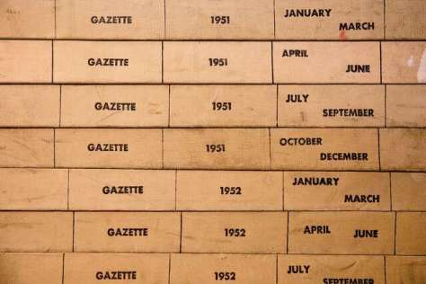 The News-Gazette, which dates to 1858 and is said to have endorsed Abraham Lincoln, keeps its archives in binders in the newsroom attic.