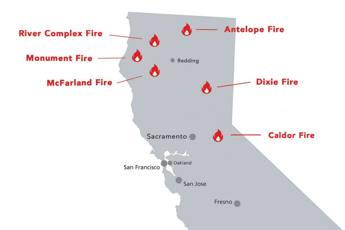 Our team of experts has selected the best scratch maps out of hundreds of models. Map Shows Where The 6 Largest Wildfires In California Are Burning Right Now