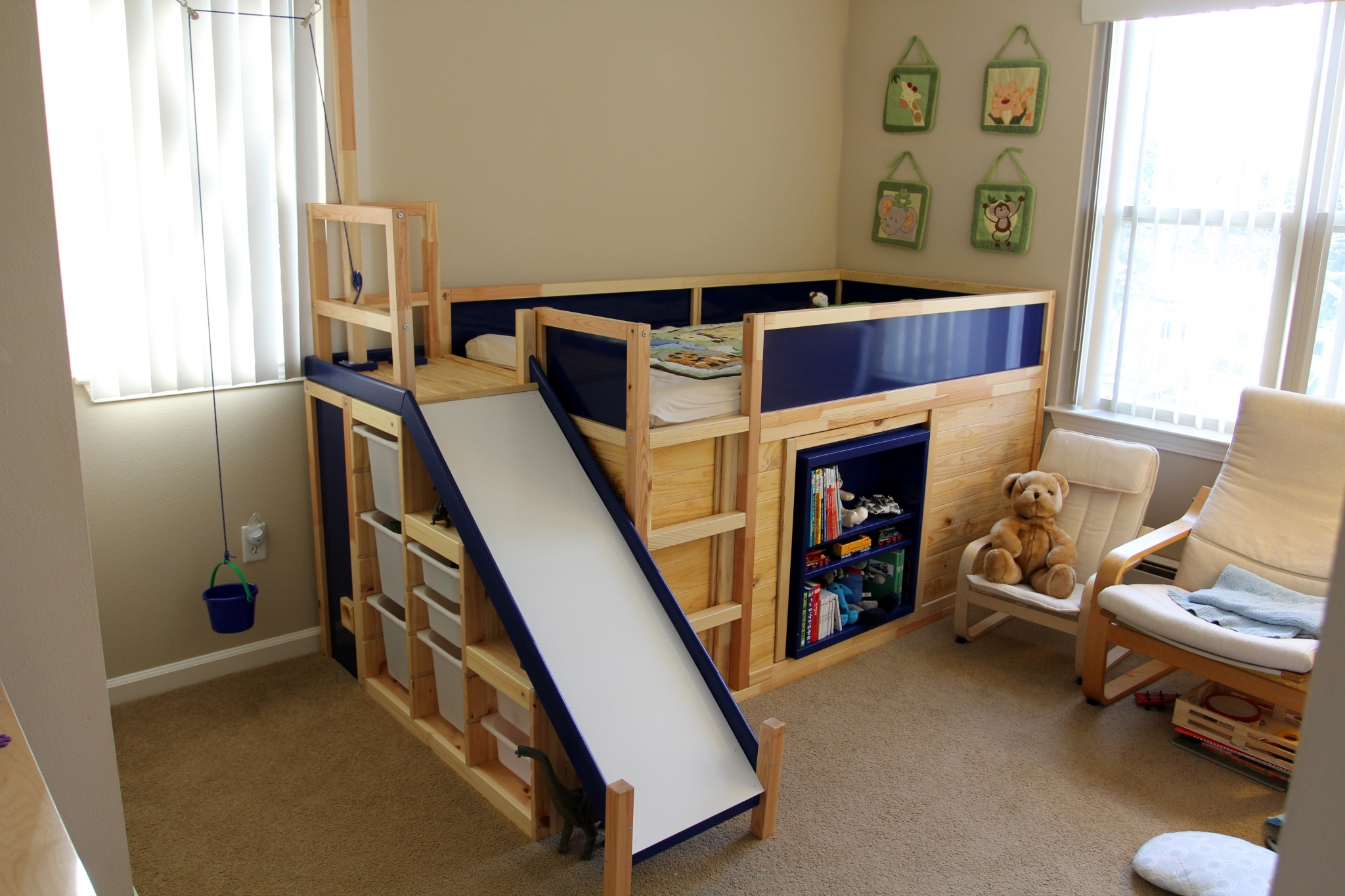 Learn How To Make An Awesome Kids Bed With Ikea Parts