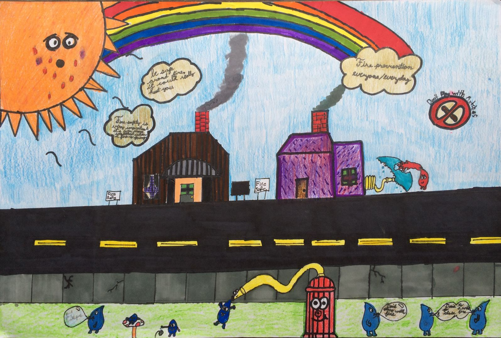 Shelton Students Win Fire Poster Contest