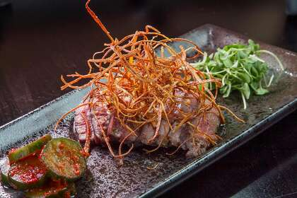 The beef tataki at Ichi Sushi in San Francisco, Calif., Can be seen on Monday April 14, 2014.