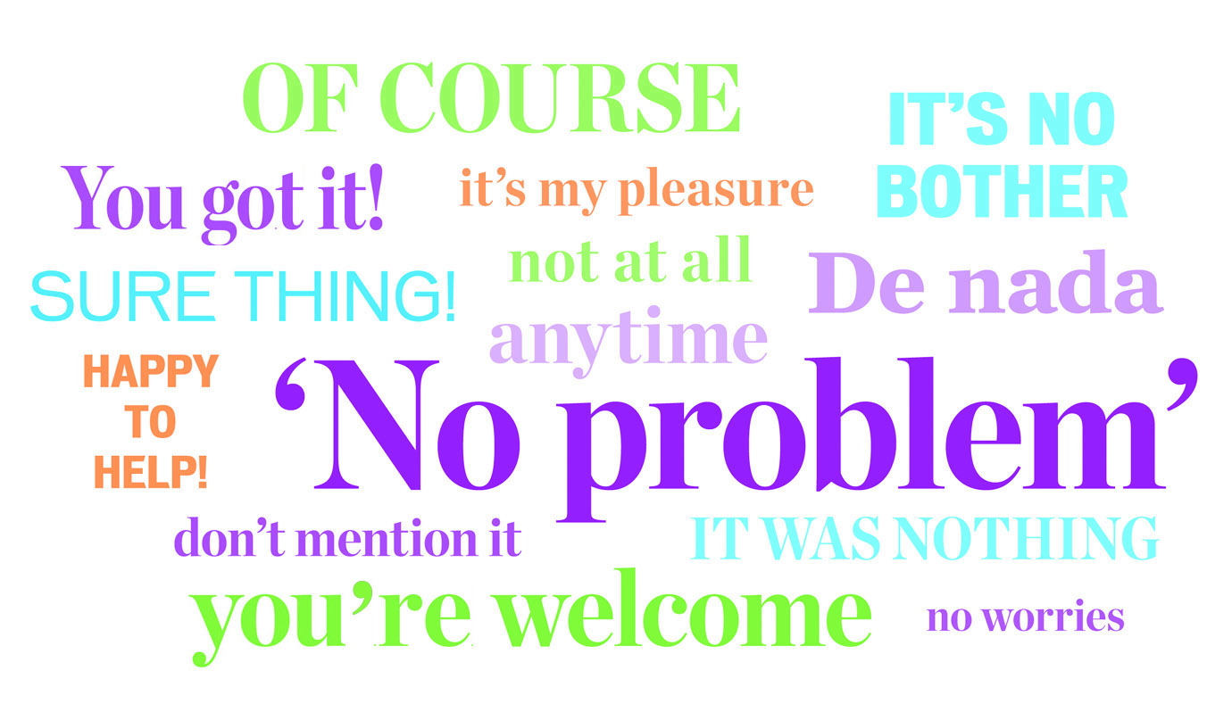 No Problem Taking Place Of You Re Welcome
