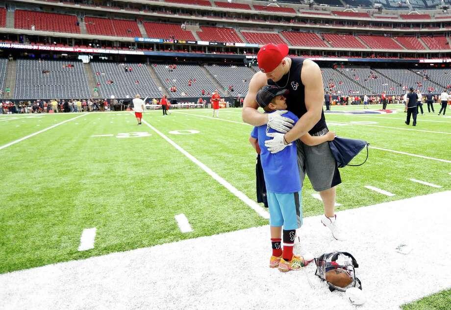 Texans JJ Watt Grants A Childs Wish Before The Game Houston Chronicle