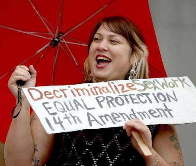 3of11sophia Amelia Left Protests The Raid On Backpage Outside Of The California Supreme Court On Tuesday October 26 2016 In San Francisco Calif