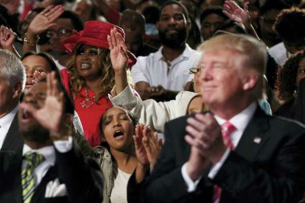 Trump makes a play for black voters in visit to Detroit ...