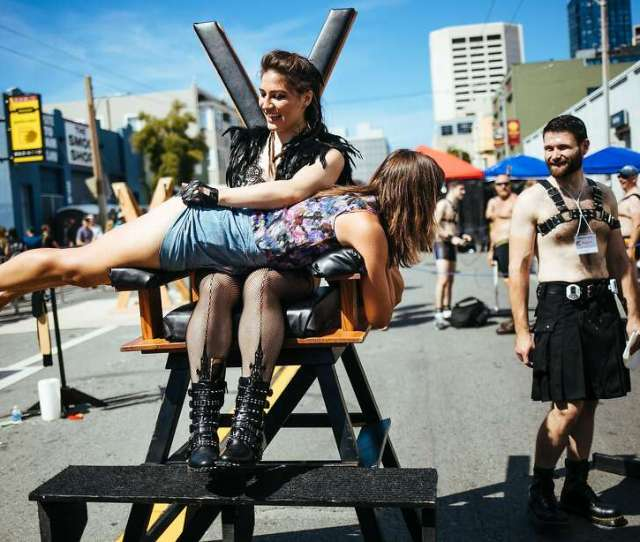 A Women Is Spanked At Folsom Street Fair In San Francisco Calif Sunday