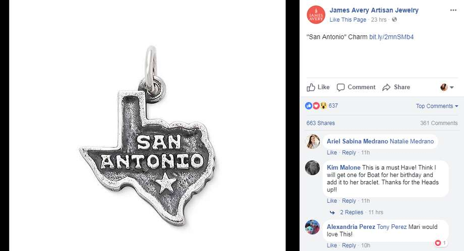 James Avery Releases San Antonio Charm For Valentines Day
