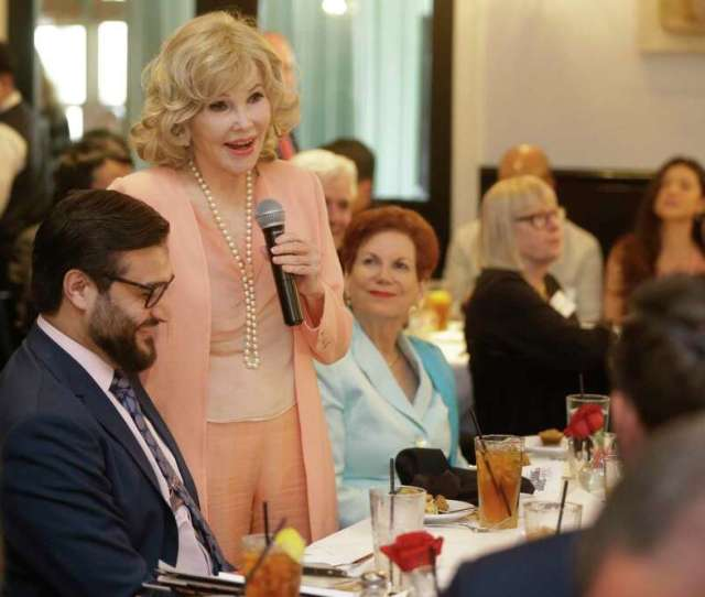 Houston Socialite Joanne King Herring Right Shown With The Afghan Ambassador To The United