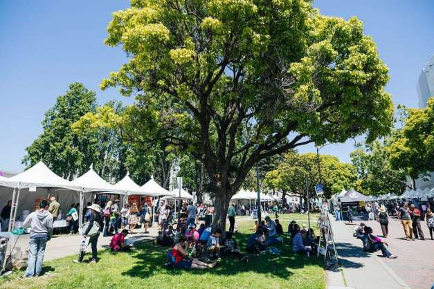 The 2018 Bay Area Book Festival features more than 200 exhibitors. Photo: Michael Hitchner