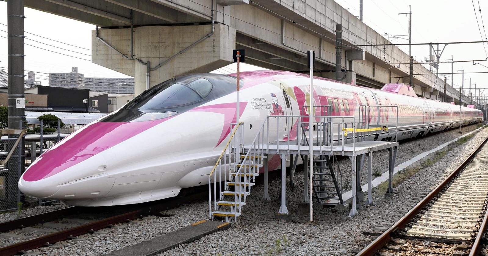 Hello Kitty Shinkansen Bullet Train Unveiled Ahead Of Launch In Japan
