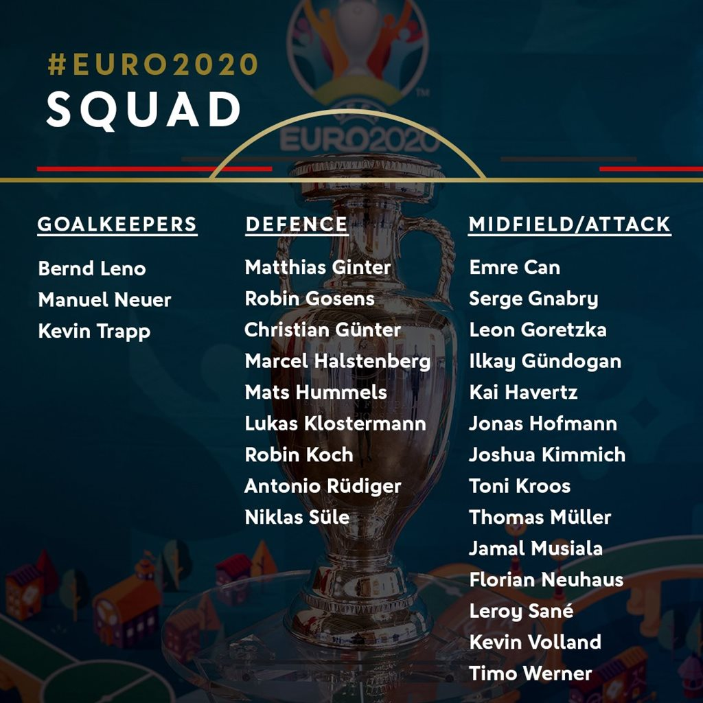 Müller, Hummels and Musiala are in the application of the German national team for Euro 2020