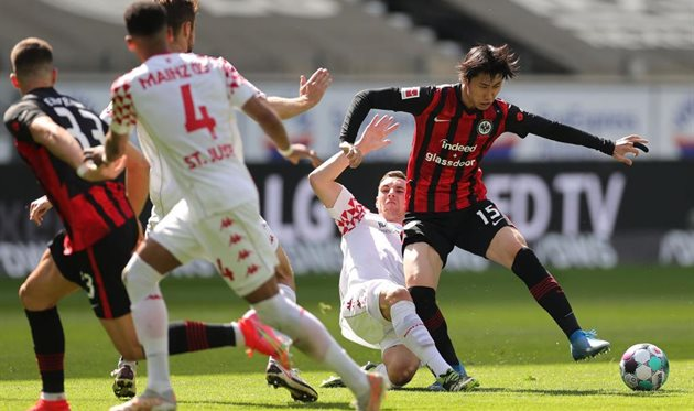 Eintracht and Mainz have not announced a winner.The Frankfurt club failed to climb into the Champions League zone.