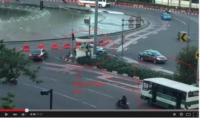 Penampakan Setoran Liar di Bundaran HI Jakarta