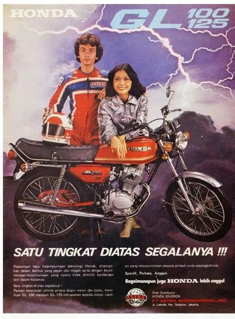 Image result for sejarah honda gl 100