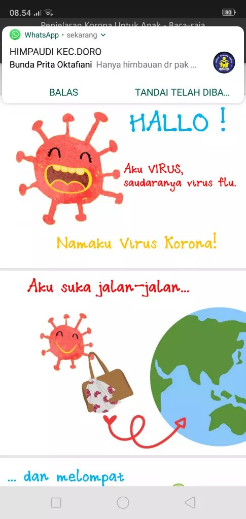 Melalui Dongeng, Cara Menjawab Pertanyaannya Anak Usia Dini Tentang Virus Corona