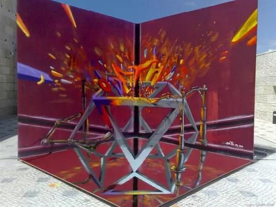 Balasan Dari Grafiti 3d Melayang Yang Mampu Membuatmu Terkecoh
