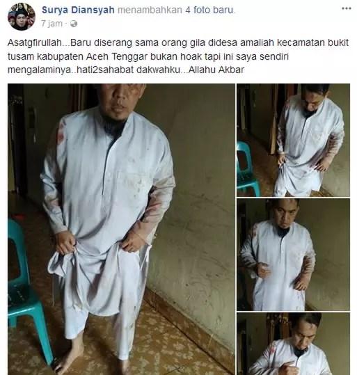 Terjadi lagi penyerangan oleh orang gila di Agara Aceh Tenggara