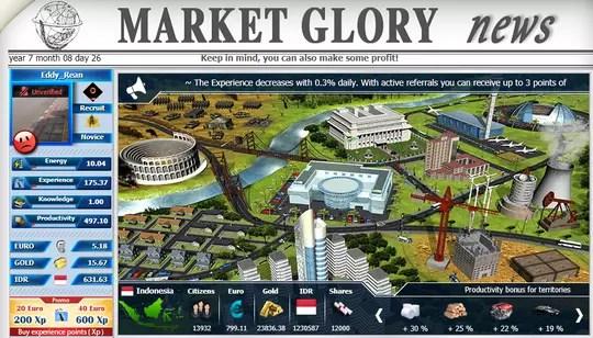 Game Penghasil Uang Market Glory