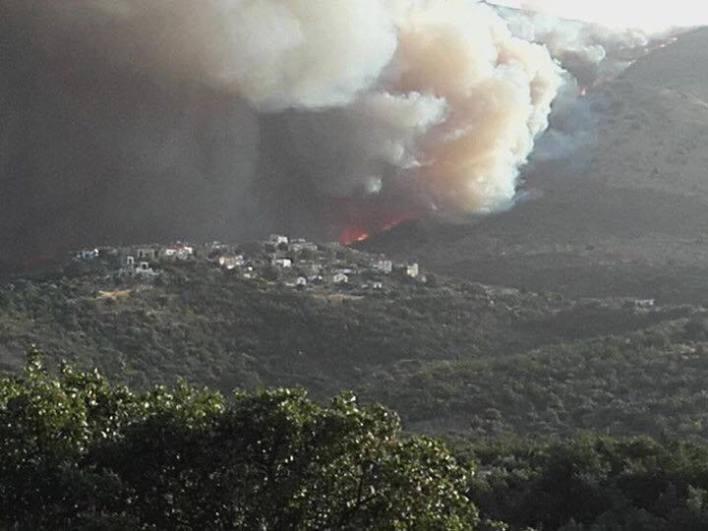 Μάχη με τις φλόγες στην ανατολική Μάνη - κάηκαν σπίτια