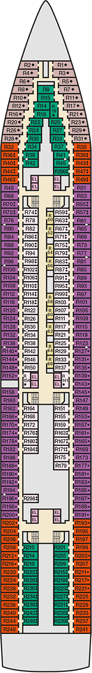 Carnival Inspiration Deck plan & cabin plan on Deck Inspiration  id=13045