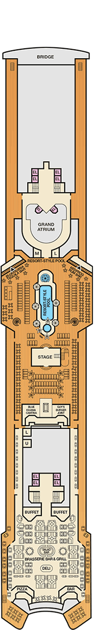Carnival Inspiration Deck plan & cabin plan on Deck Inspiration  id=49671