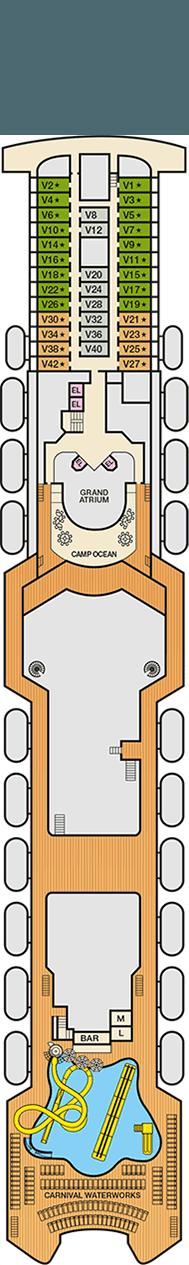 Carnival Inspiration Deck plan & cabin plan on Deck Inspiration  id=42558