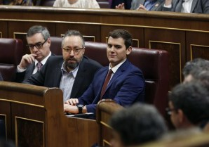 Albert Rivera, durante la sesión constitutiva del Congreso. | EFE