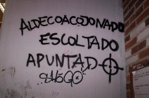 Pintadas liberticidas en Somosaguas