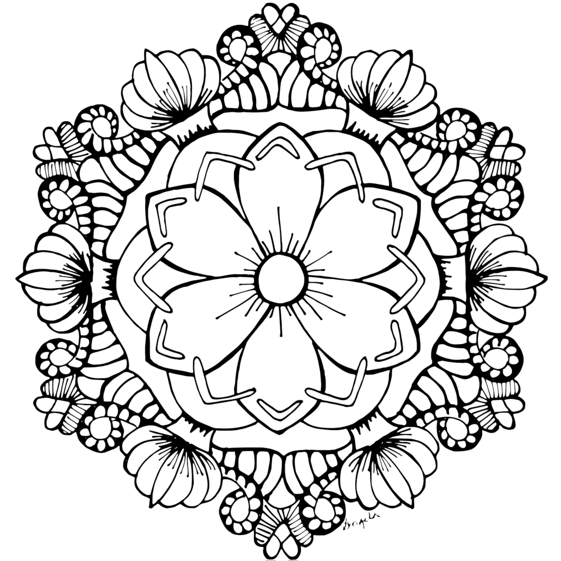 Free Adult Coloring Pages 35 Gorgeous Printable To Rhtealnotes: Coloring Pages For Adults Floral At Baymontmadison.com