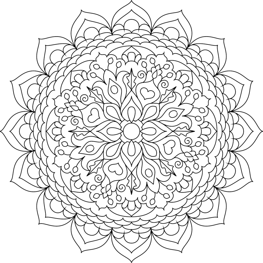 Cheerful Oasis Coloring Page