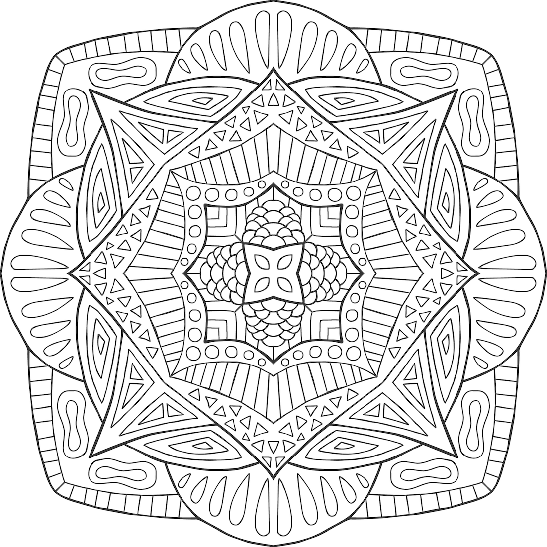 Rupa In Balance Coloring Page