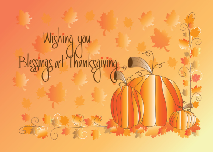 Wishing You Blessings At Thanksgiving Thanksgiving