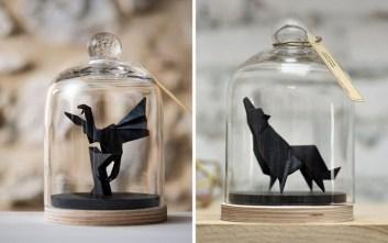 Εντυπωσιακά χάρτινα ζώα με την τέχνη οριγκάμι