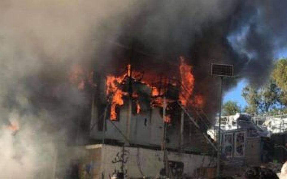 Αποτέλεσμα εικόνας για Δύο νεκροί ο απολογισμός από την πυρκαγιά στον καταυλισμό της Μόριας