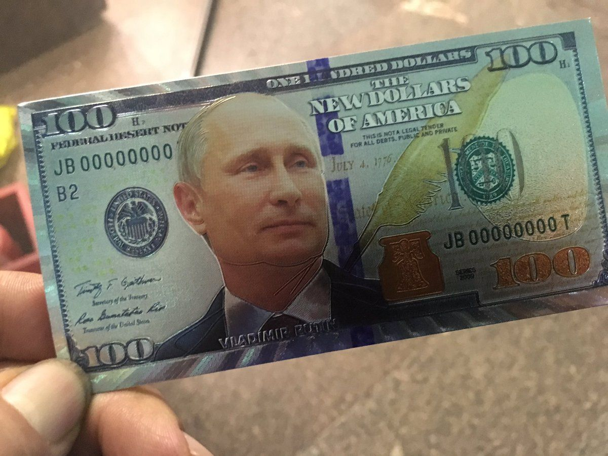 Vladimir Putin S Face Is Now On American Money In Moscow