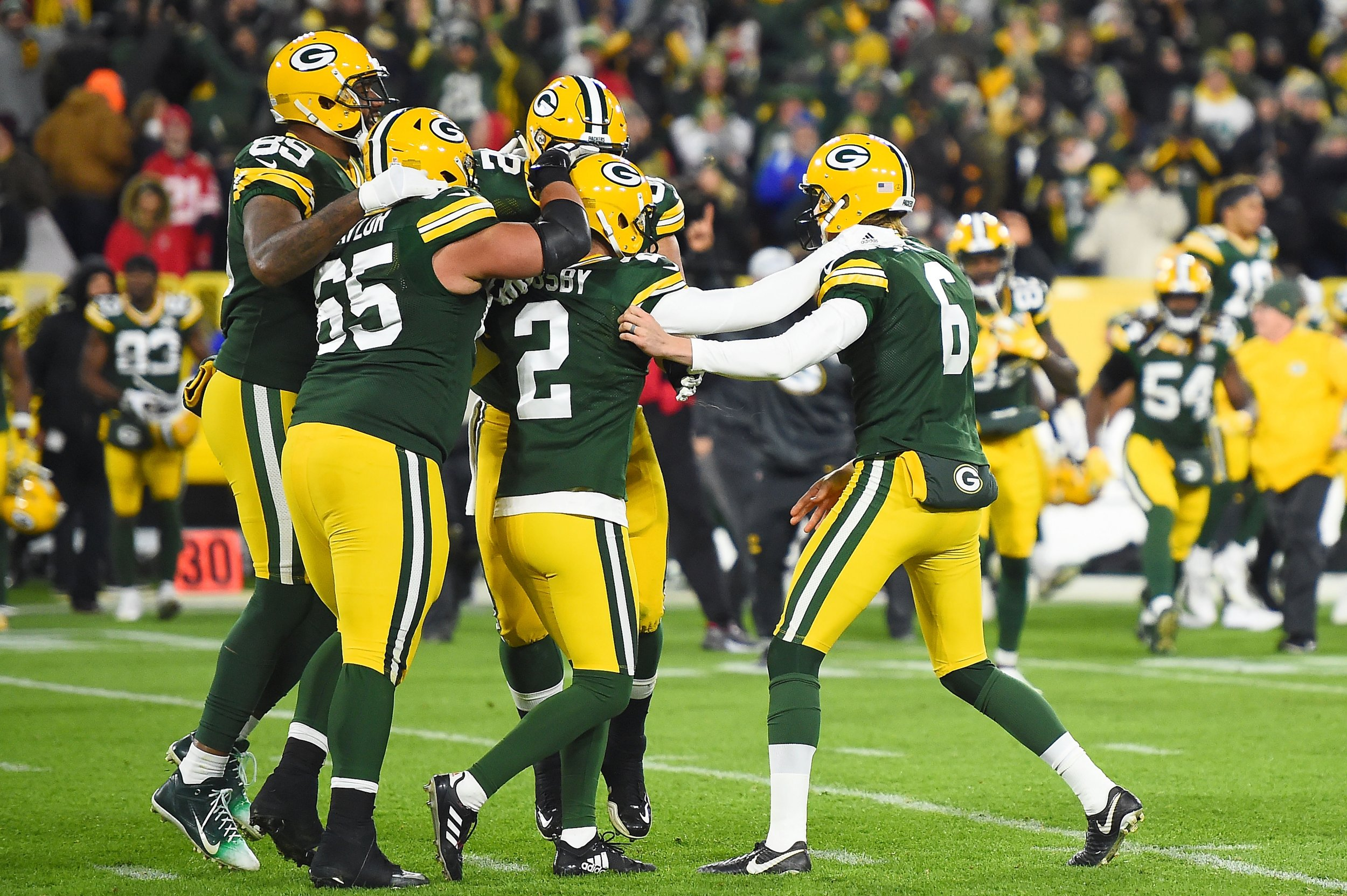 Aaron Rodgers Mason Crosby Lead Green Bay Packers To MNF